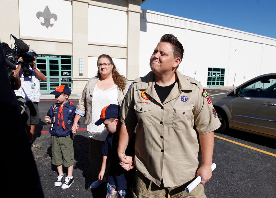 """Jennifer Tyrrell is forced to resign as den leader of her son's Tiger Scout chapter because she is a lesbian.  """"Throughout th"""