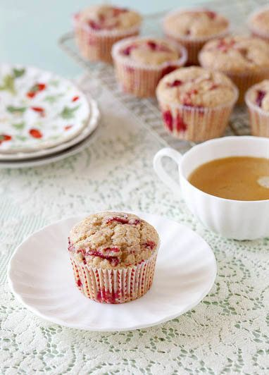 """<strong>Get the <a href=""""http://www.annies-eats.com/2013/04/25/roasted-strawberry-muffins/"""" target=""""_blank"""">Roasted Strawberr"""