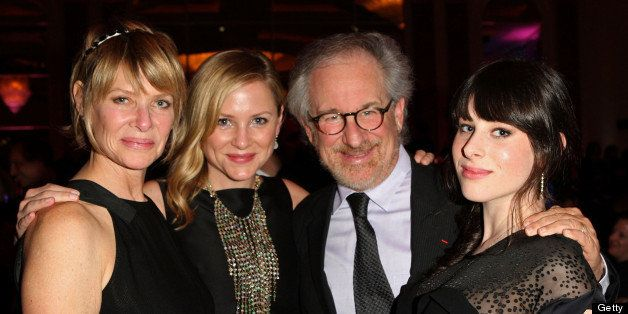 BEVERLY HILLS, CA - JANUARY 27:  Actress Kate Capshaw, actress Jessica Capshaw, director Steven Spielberg and Sasha Spielberg attend the 13th annual Unforgettable Evening benefiting EIF held at Beverly Wilshire Four Seasons Hotel on January 27, 2010 in Beverly Hills, California.  (Photo by Donato Sardella/WireImage)