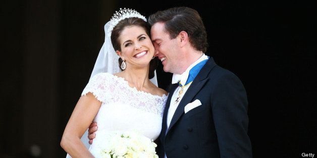 STOCKHOLM, SWEDEN - JUNE 08:  Princess Madeleine of Sweden and Christopher O'Neill appear on the balcony after the wedding of Princess Madeleine of Sweden and Christopher O'Neill hosted by King Carl Gustaf XIV and Queen Silvia at The Royal Palace on June 8, 2013 in Stockholm, Sweden.  (Photo by Andreas Rentz/Getty Images)