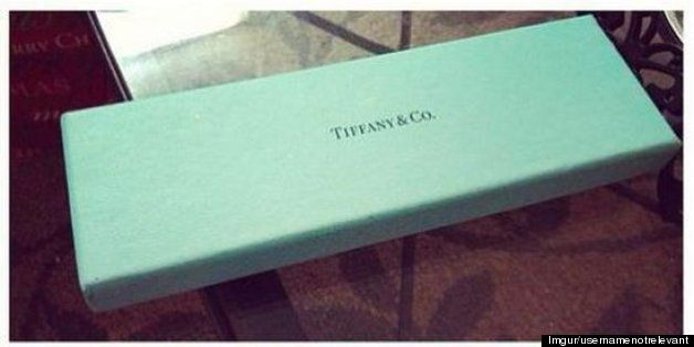 1b8288eb030c9 Guys, let the photo below be a lesson to you  gifting the woman in your  life something from Tiffany   Co. is generally a good idea -- but your  present ...