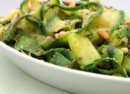 """Zucchini masquerading as noodles...how could you go wrong? <strong><a href=""""http://www.onceuponachef.com/2009/08/zucchini-noo"""