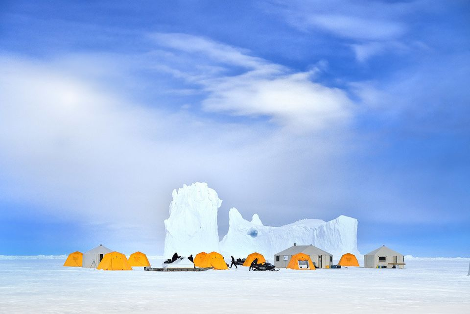 The base camp for Arctic Kingdom, a tour company offering safaris in the polar desert of arctic Canada.   Photos by by David