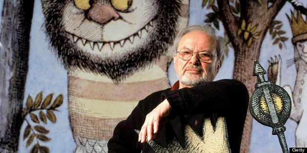 Author/illustrator Maurice Sendak standing by an life-size scene from his book WHERE THE WILD THINGS ARE at the Children's Museum of Manhattan which is honoring his 50 years of work with an exhibit.  (Photo by James Keyser//Time Life Pictures/Getty Images)
