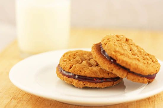 "<strong>Get the <a href=""http://food52.com/recipes/12481-peanut-butter-and-jelly-sandwich-cookies"" target=""_blank"">Peanut But"