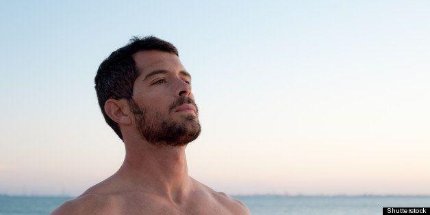 handsome muscular man deep...