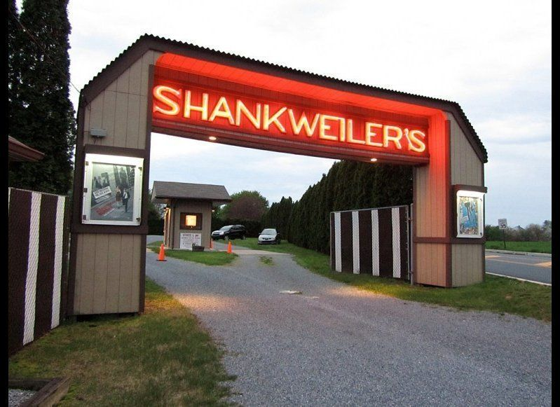 """<a href=""""http://www.shankweilers.com/"""" target=""""_hplink"""">SHANKWEILER'S DRIVE-IN THEATER</a> Orefield, Pennsylvania  About a"""