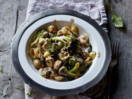 """<strong>Get the <a href=""""http://www.huffingtonpost.com/2013/04/08/orecchiette-with-brown-bu_n_3040233.html"""" target=""""_blank"""">O"""