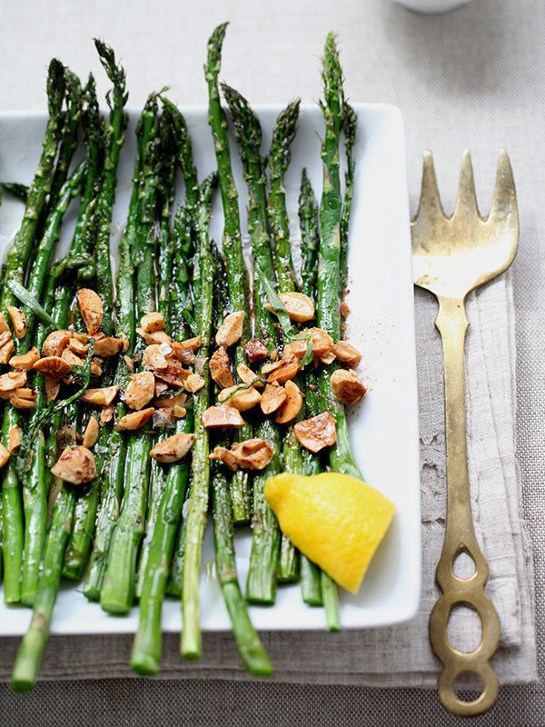 """<strong>Get the <a href=""""http://www.foodiecrush.com/2012/06/roasted-asparagus-with-browned-butter/"""" target=""""_blank"""">Roasted A"""
