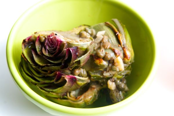 """<strong>Get the <a href=""""http://food52.com/recipes/6075-pan-fried-artichokes-in-lemon-garlic-brown-butter"""" target=""""_blank"""">Pa"""