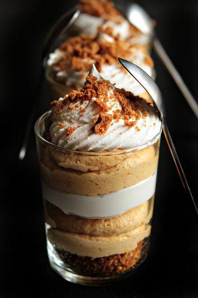 """<strong>Get the <a href=""""http://www.mybakingaddiction.com/pumpkin-cheesecake-trifles/"""">Simple Pumpkin Cheesecake Trifles reci"""
