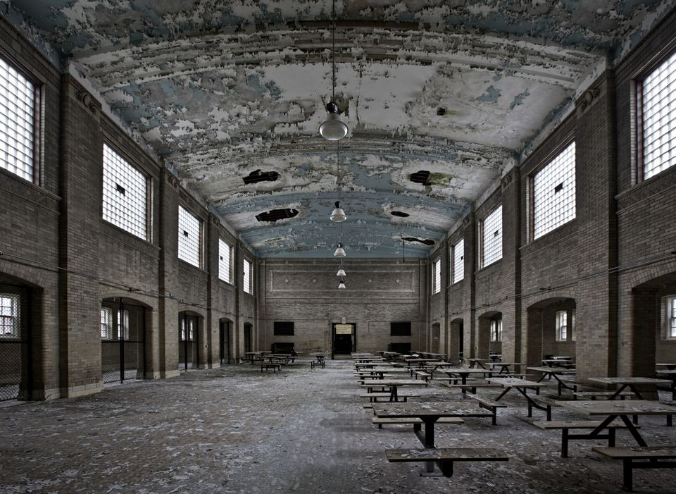 (PICTURED:Undisclosed prison) - These are the hauntingly eerie photos that capture a snapshot of history by documenting aband
