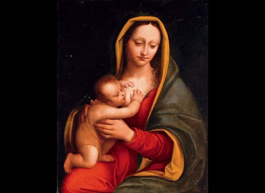 """""""Madonna and Child"""" by Andrea Solario Milan (1465-1524). Image: Public Domain."""