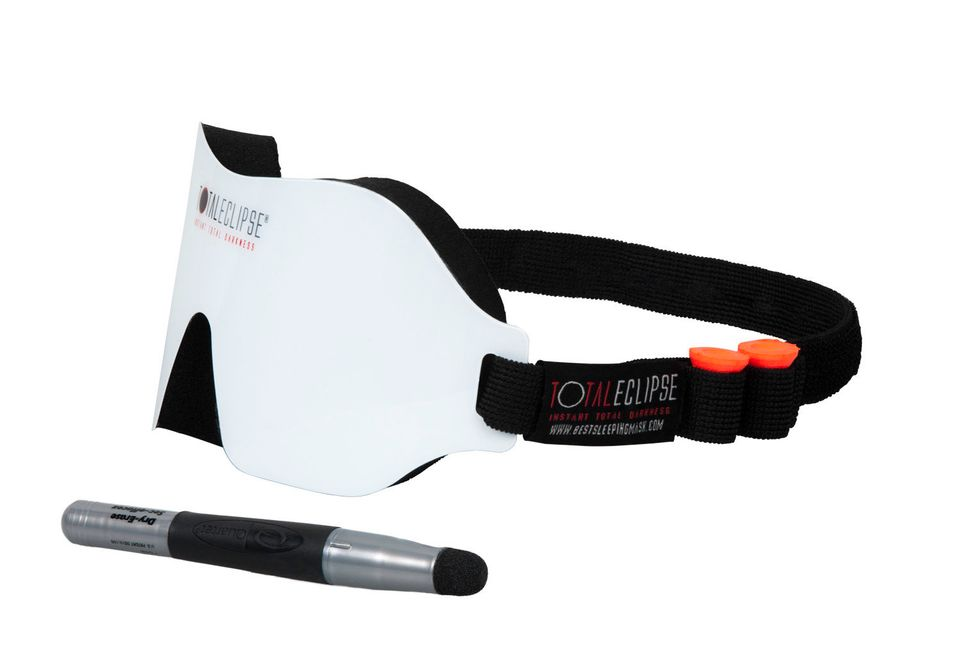 "The Total Eclipse Whiteboard Sleeping Mask allows you to write messages on the front of the mask . See more at <a href=""http:"