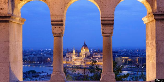 Hungarian Parliament seen from Bastion in Budapest