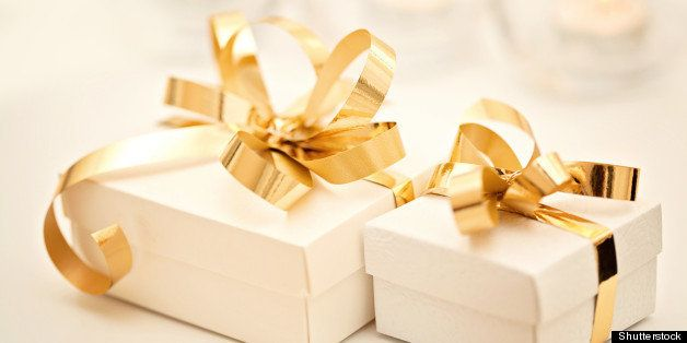 gift boxes with golden ribbon...