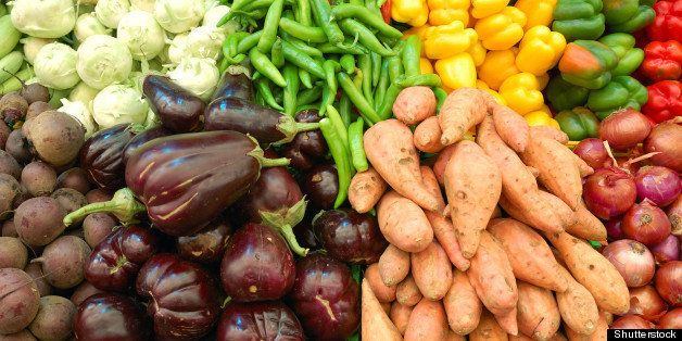 close up of colorful vegetables ...