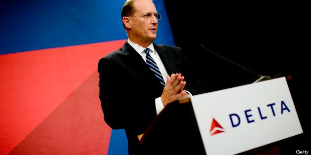 UNITED STATES - SEPTEMBER 25:  Richard Anderson, chief executive officer of Delta, speaks during a news conference in Atlanta