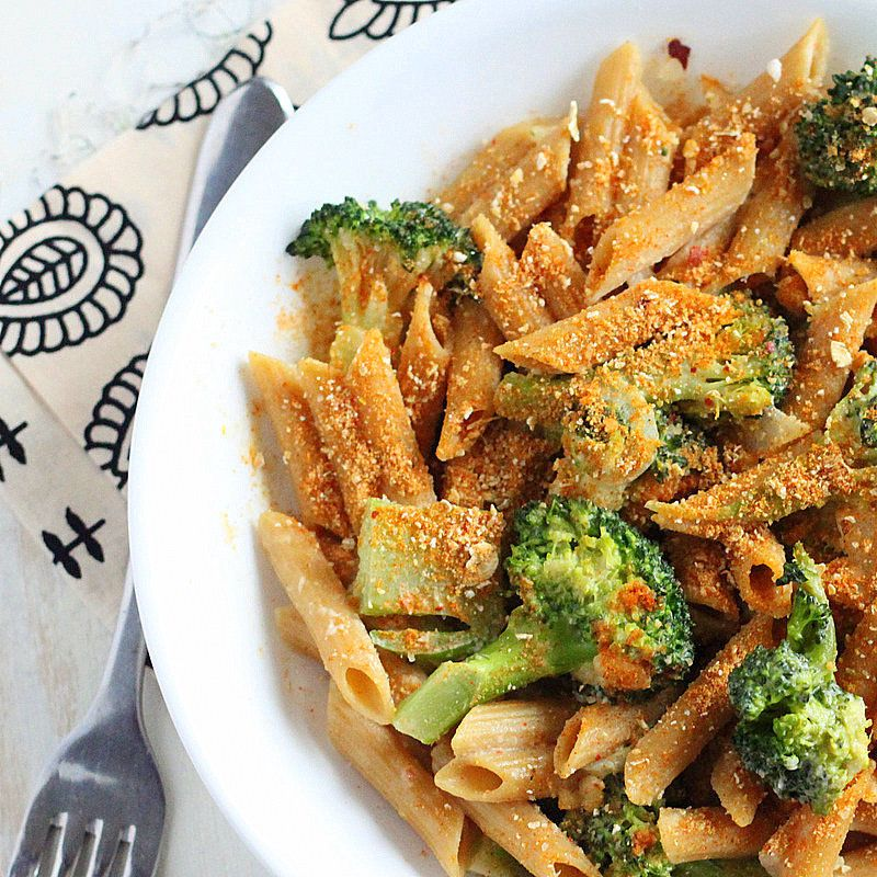 "<strong>Get the <a href=""http://www.veganricha.com/2012/02/penne-and-broccoli-in-dorito-cream.html"" target=""_blank"">Penne and"