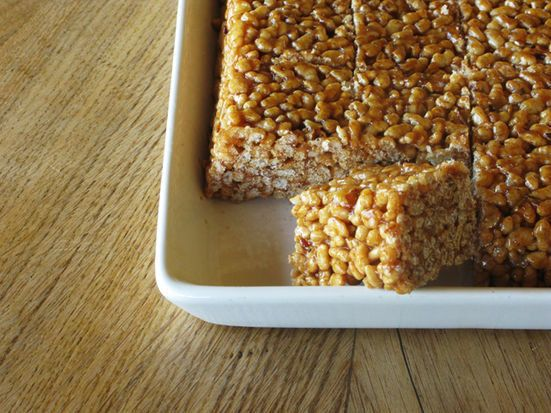 """<strong>Get the <a href=""""http://food52.com/recipes/21601-grown-up-pear-apple-and-hazelnut-rice-krispie-treats"""" target=""""_blank"""