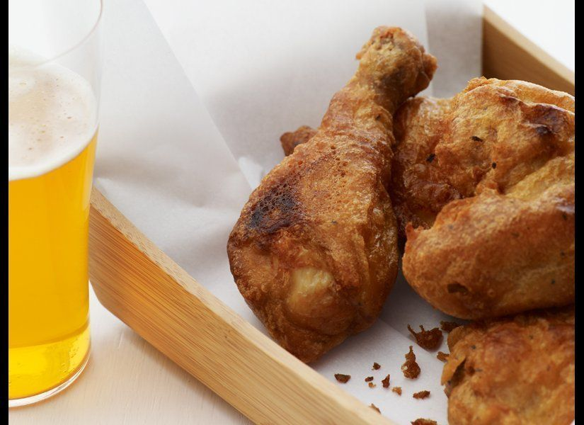 In this fried-chicken recipe, the chicken soaks in buttermilk for nearly four hours. That pretty much guarantees this recipe