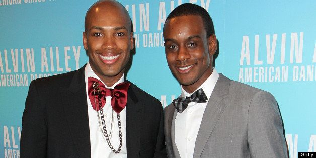 NEW YORK, NY - DECEMBER 01:  Antonio Douthit and Kirven Boyd attend the Alvin Ailey American Dance Theater opening night gala benefit  at the Hilton New York on December 1, 2010 in New York City.  (Photo by Taylor Hill/Getty Images)