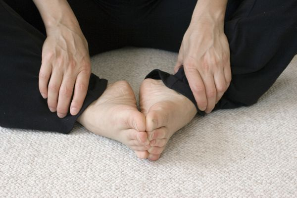 A variation of the basic butterfly pose, pictured above, the reclining butterfly can help the body get into rest mode. Lie do