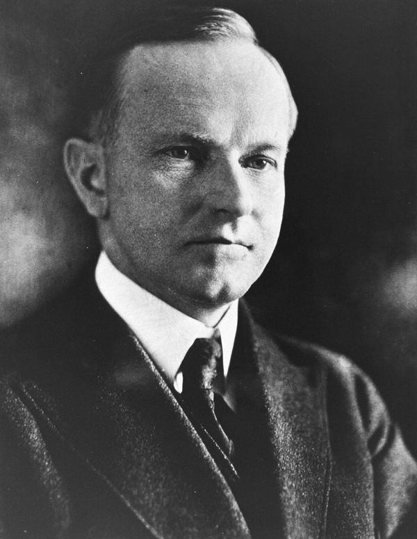 """<a href=""""http://nameberry.com/babyname/Calvin"""" target=""""_blank"""">Calvin</a> Coolidge, born John Calvin and known as 'Silent Cal"""