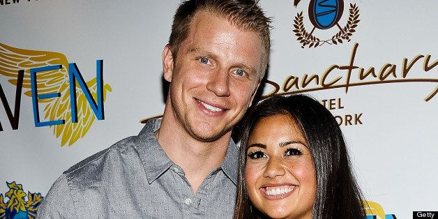 NEW YORK, NY - JUNE 11:  Sean Lowe and Catherine Giudici attend The Sanctuary Hotel One Year Anniversary on June 11, 2013 in New York, United States.  (Photo by Daniel Zuchnik/FilmMagic)