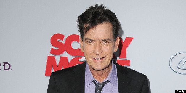 HOLLYWOOD, CA - APRIL 11:  Charlie Sheen arrives at the 'Scary Movie V' - Los Angeles Premiere at ArcLight Cinemas Cinerama Dome on April 11, 2013 in Hollywood, California.  (Photo by Steve Granitz/WireImage)