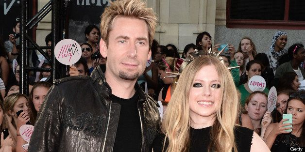 TORONTO, ON - JUNE 16: Chad Kroeger and Avril Lavigne arrives at the 2013 MuchMusic Video Awards at MuchMusic HQ on June 16, 2013 in Toronto, Canada. (Photo by George Pimentel/WireImage)