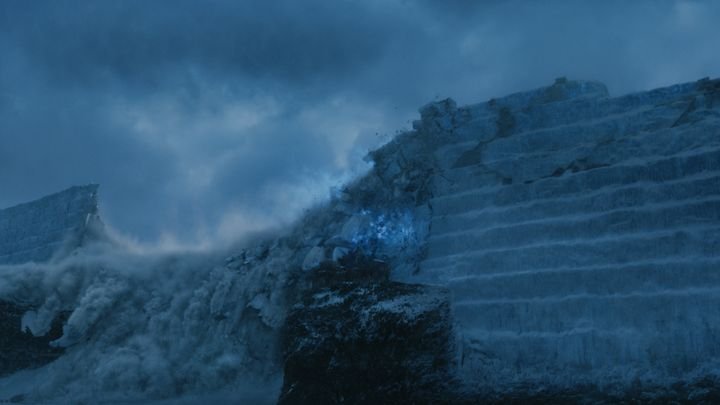 "The Wall coming down in ""Game of Thrones"" season seven."