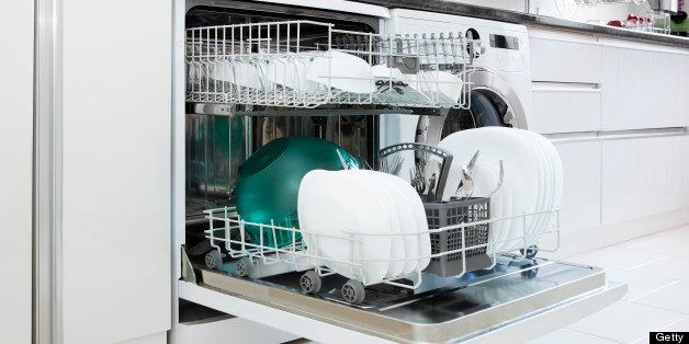 open dishwasher with clean dishessimilar images: