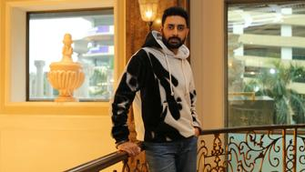 NOIDA, INDIA - SEPTEMBER 7: Bollywood actor Abhishek Bachchan poses during an exclusive interview with HT City-Hindustan Times for the promotion of upcoming movie Manmarziyaan, at Radisson Blu, on September 7, 2018 in Noida, India. (Photo by Manoj Verma/Hindustan Times via Getty Images)
