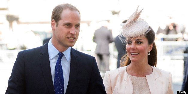 LONDON, ENGLAND - JUNE 04:  Prince William, Duke of Cambridge and Catherine, Duchess of Cambridge attend a service marking the 60th anniversary of the Queen's coronation at Westminster Abbey on June 4, 2013 in London, England.  (Photo by Mark Cuthbert/UK Press via Getty Images)