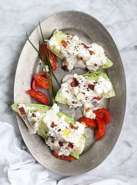 """<strong>Get the <a href=""""http://www.foodiecrush.com/2013/05/blue-cheese-wedge-salad-recipe/"""" target=""""_blank"""">Classic Blue Che"""