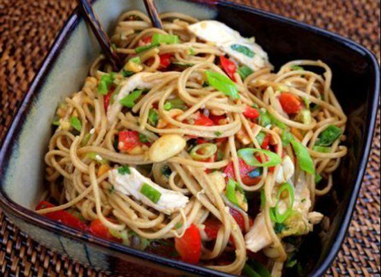 This Asian Chicken Noodle Salad is everything you want a summertime meal to be: flavorful, light and totally satisfying. <str