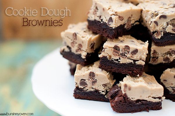"""<strong>Get the <a href=""""http://www.bunsinmyoven.com/2012/05/11/cookie-dough-brownies/"""" target=""""_blank"""">Cookie Dough Brownies"""