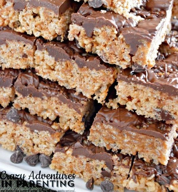 """<strong>Get the <a href=""""http://crazyadventuresinparenting.com/2014/05/nutella-cookie-dough-rice-krispies-treats.html"""" target"""