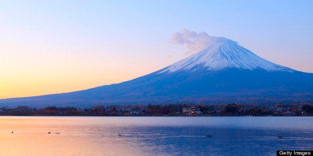 mt. fuji, sun rise