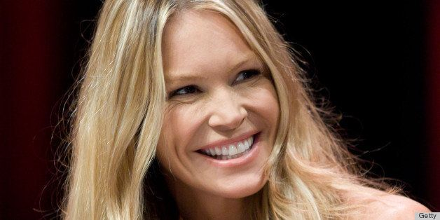 CANNES, FRANCE - APRIL 02:  Elle Macpherson Introduces her TV Show ' Fashion Star' at the MipTV on April 2, 2012 in Cannes, France.  (Photo by Frederic Nebinger/WireImage)