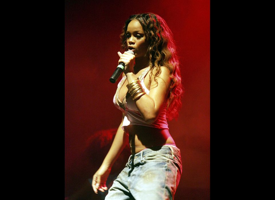 Roc-A-Fella recording artist Rihanna performs at the Teen People Listening Lounge hosted by Jay - Z at the Key Club on July 1