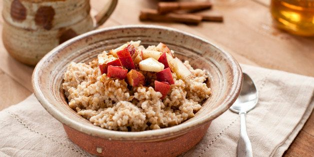 Steel Cut Oatmeal with Apples, Honey, and Cinnamon
