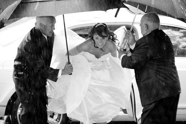 """There was a monsoon on my wedding day!  Earlier in the planning process I swore to my husband-to-be that I would not be upse"