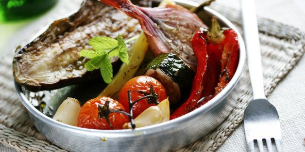 oven roasted summer vegetables...