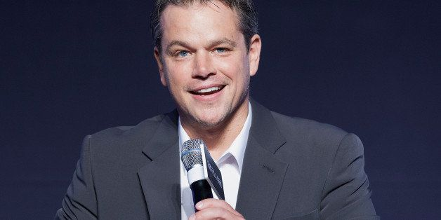 SEOUL, SOUTH KOREA - AUGUST 14:  Actor Matt Damon attends during the 'Elysium' press conference at the Conrad Seoul on August 14, 2013 in Seoul, South Korea. The film will open on August 29, in South Korea.  (Photo by Han Myung-Gu/WireImage)
