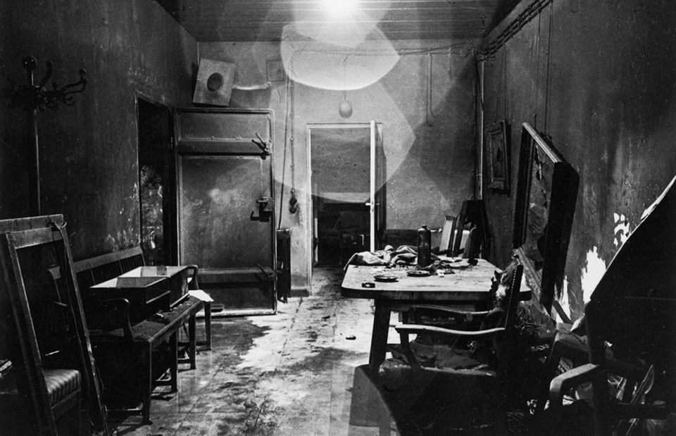 "A new view of a photograph that appeared, heavily cropped, in LIFE, <a href=""http://life.time.com/history/adolf-hitler-bunker"
