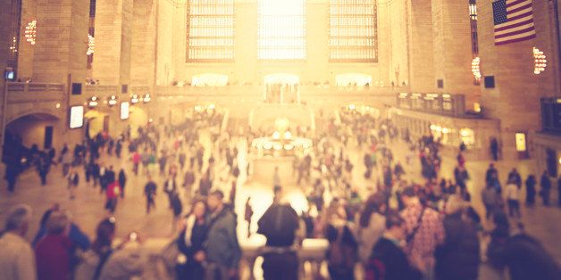 Activity in Grand Central Station. Shot with tilt shift lens.