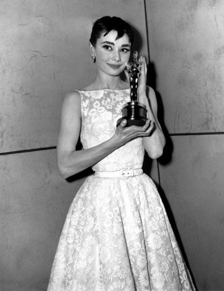 "Hepburn wore this Givenchy dress to the 1954 Academy Awards, where she won the Best Actress Oscar for her role in the film ""R"