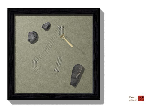 Raking sand and arranging rocks in a miniature zen garden is thought to ease the mind and restore a sense of control. Don't h